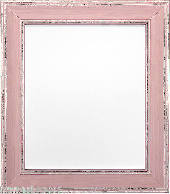 Scandi Distressed Pink Photo Picture Frames Available In 37 Sizes Rustic Style