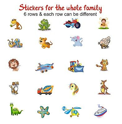 72 Name Labels, Book Tags, School, Childcare, Toys, Waterproof Custom Stickers