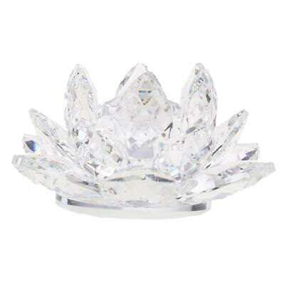 Crystal Lotus Flower Ornament Crystocraft Home Wedding Table Decor Clear