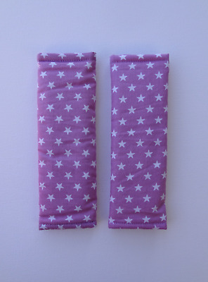 Pink stars baby kids seat belt strap covers Prams Strollers car seats chairs