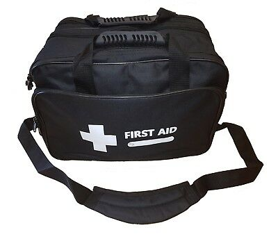 EMPTY First Aid Bag - BLACK Large Sling Style - Holdall Paramedic Bag - Free P&P