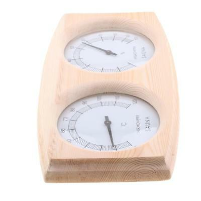 2 in 1 Sauna Wooden Hygrothermograph Thermometer Hygrometer - Dual Display
