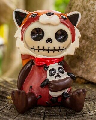 FurryBones Reddington Figurine Ornament Red Panda Cute Gothic Cool Cute Skull