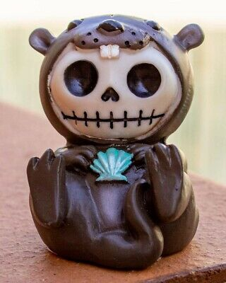 FurryBones Otto Figurine Ornament Otter Cute Gothic Skull Cool Gift Fun Sweet