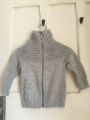 Seed Baby Boys Knit Cardigan Size 6-12months Grey