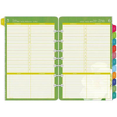 Day-Timer One Page Per Day Refill 2016, 12 Months, Loose-Leaf, Desk Size, 5.5 x