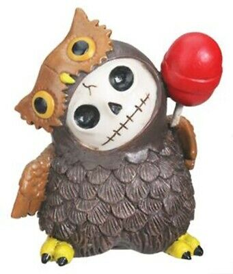 FurryBones Hootie Figurine Ornament Owl Cute Skull Cool Gothic Bird Gift Decor