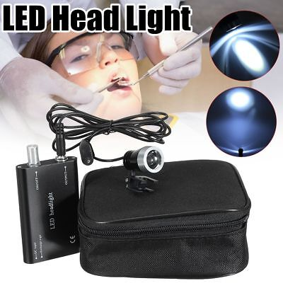 Dentist Surgical LED Head Light Lamp Black For Dental Loupes Medical 3W UK