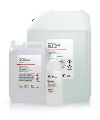 PURE Acetone 99.8% Colourless / HIGH GRADE / Propanone Propan-2-one 1L - 20L