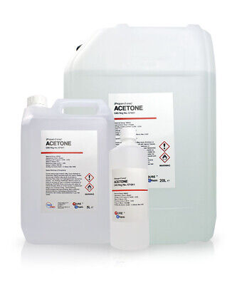 PURE Acetone 99.8% Colourless / Water-soluble / Propanone Propan-2-one 1L - 20L