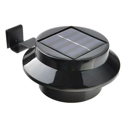 Solar New Powered Outdoor Garden Light Gutter Fence LED Wall Lamp Black