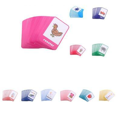 Various Flash Cards Set - Educational Learning Picture& Word Card Flashcards