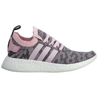 56be6f12f Adidas NMD R2 PK Womens BY9521 Wonder Pink Primeknit Running Shoes Size 9