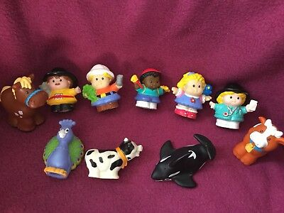 10 Figurines Little People Personnages Animaux