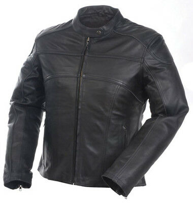 Mossi Womens Premium Leather Jacket Size 24 Black P/N 20-218-24