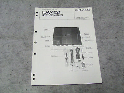 SCHALTPLAN SERVICE MANUAL Kenwood KAC1021 Autoverstärker Car Power ...