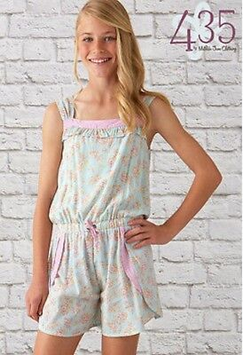 New Matilda Jane sz 10 Tween Girls Hello Lovely Summer Sky Romper NWT