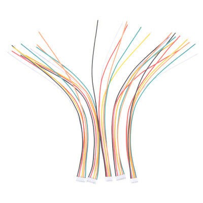 5Pcs Mini Micro JST 2.0mm PH 6-Pin Male Connector Plug Wires Cables 200mm ESUS