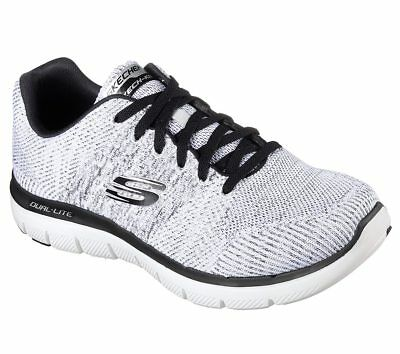 b97456fe4672 Mens Skechers Flex Advantage 2.0 - Missing Link WBK White Black 52181  BR