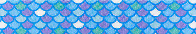 Country Brook Design® 5/8 Inch Mermaid Scales Polyester Webbing, 50 Yards