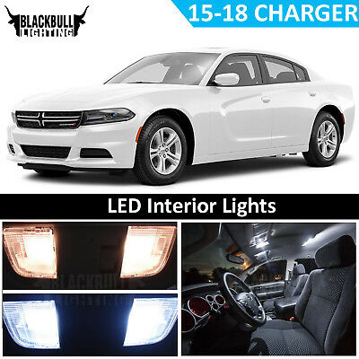 White LED Interior Light Replacement Kit for 2015-2018 Dodge Charger 17 bulbs