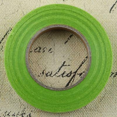 12x Florist Stem Tape Wire Floral Buttonholes Corsage Craft 30m Grass Green