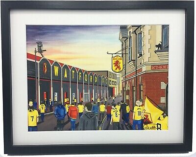 Watford FC Vicarage Road Stadium High Quality Framed Art Print. Approx A4