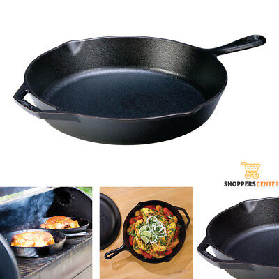 CAST IRON SKILLET COOKING PAN 12 In Lodge Durable Pre Seasoned Kitchen Cookware