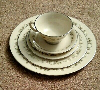 BROOKDALE LENOX CHINA 5-Piece Place Setting Dinner Salad Bread Plate Cup Saucer