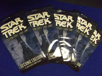 x5 2E Premiere Sealed Booster Packs 2002 Star Trek CCG card game Second Edition