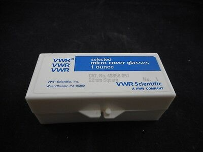 VWR Micro Microscope Slide Cover Glass Slip 22 x 22mm Square 0.7 Ounce Pack
