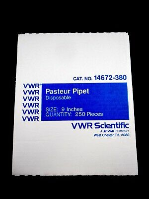VWR Glass Disposable Pasteur Pipet 9 inch Body OD 7mm Approx. 230 14672-380
