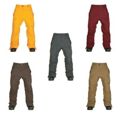 686 Snowboard Pant - Authentic Infinity Insulated - Yellow Red Ski Trousers 2016