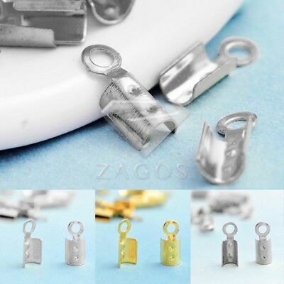 20g Cord End Tips Terminator Crimp Bead Caps Connector Necklace Findings IW