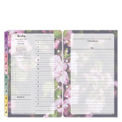 Compact Blooms Daily Ring-bound Planner - Jan 2018 - Dec 2018