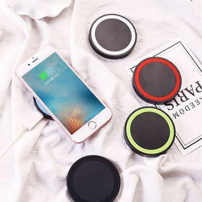 Qi Wireless Charger Dock Pad Mat & Charging Receiver for iPhone &Samsung Android
