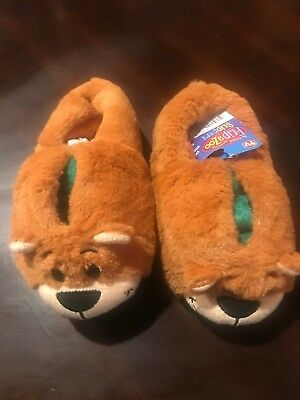 84536a418d2 As Seen on TV FlipaZoo Slippers Alligator to Grizzly Bear Flip small 10-11