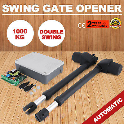 Dual Swing Gate Opener 1000KG Scalable Heavy Duty 80W/arm Double Actuator GREAT