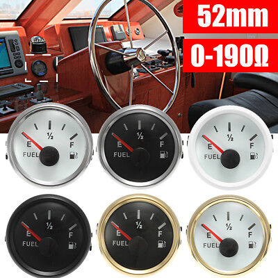 "6 Type 2"" 52mm Universal Boat Fuel Level Gauge Meter With Fuel Sensor EF Pointer"