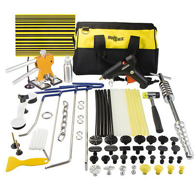 PDR Paintless Dent Puller Lifter Hail Removal Hammer Repair Tools Glue Gun Kit