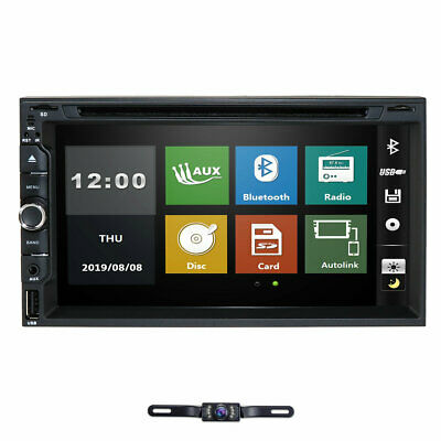 "7""Car Stereo Radio DVD Player Sony Lens Double 2Din iPod Bluetooth TV MP3 AUX CO"
