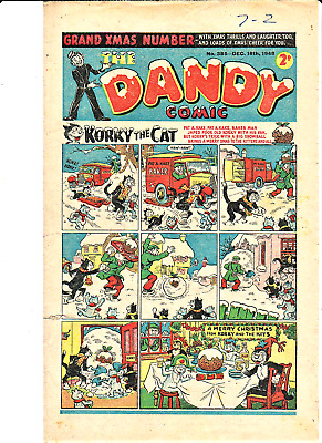 DANDY # 385 Christmas  comic Xmas issue  December 18th 1948