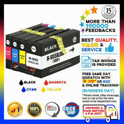 High Yield 955XL Ink Cartridges for HP Officejet Pro 7740 8210 8710 8730 8740