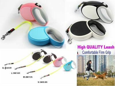 Flexi Retractable Dog Lead Comfort Classic Giant Neon Tape Or Cord Puppy Leash*N