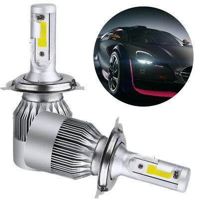 2pcs T2 H4 Car COB CREE LED Headlight 110W 26000LM 6000K Bulbs Conversion Kit