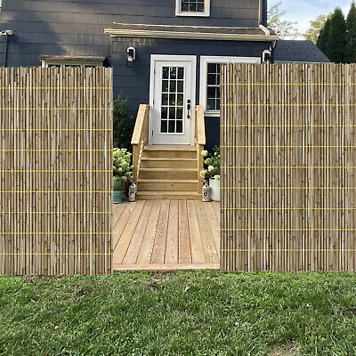 Peeled Reed Natural Garden Fencing Panel Privacy Screen Roll Outdoor Wind Break