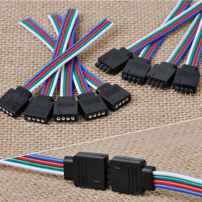 10Pcs 4Pin Male + Female Connector Wire Cable for 3528 5050 SMD LED Strip Light