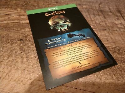 SEA OF THIEVES Code Exclusive Midnight Blunderbuss Dlc Weapon Skin (Xbox /  Pc)