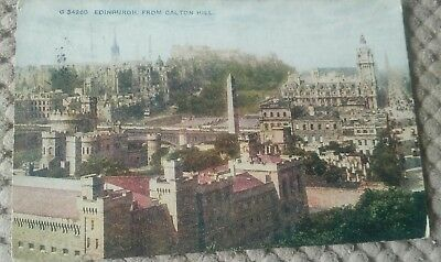 Vintage Scottish Postcard Edinburgh From Calton Hill 1919