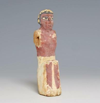 Middle Kingdom Egyptian wood servant: Circa 1900 BC.